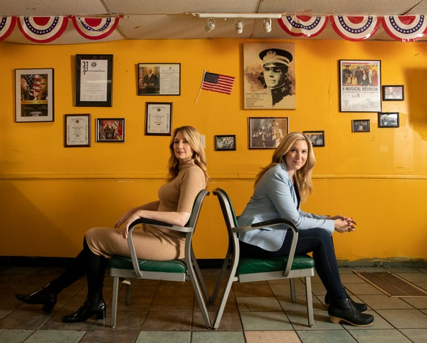 """Cassie Beck (right) steps into the shoes of actor/writer Heidi Schreck (left) in """"What the Constitution Means to Me"""" on its national tour, startin"""