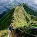 Navigating the steps of Oahu's Stairway to Heaven.