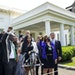 Members of George Floyd's family speak to reporters outside the White House after meeting with President Joe Biden on May 25, the anniversary of Flo