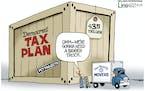 Editorial cartoon: Lisa Benson on the Democrats' tax plan