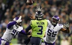 Seahawks quarterback Russell Wilson during a 2019 win over the Vikings in Seattle.