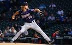 Twins starting pitcher Joe Ryan