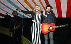 Sugarland's Jennifer Nettles and Kristian Bush performed Friday, August 24, 2018 at the Minnesota State Fair Grandstand.