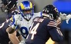 This week's NFL slate feature one game between 2-0 teams: Aaron Donald (above) and the Rams vs. Tom Brady and the Bucs.