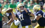 Notre Dame quarterback Jack Coan