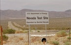 A sign sits at the entrance to the Nevada Test Site, May 30, 1996, in Mercury, Nev., 65 miles northwest of Las Vegas.