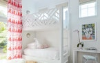 A provided image shows bunk beds by Kara Miller. These communal spaces may have humble roots, but now they're features with style, whimsy and nostal