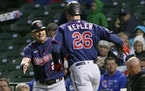 Max Kepler homered twice for the Twins on Wednesday in a victory over the Cubs in Chicago.