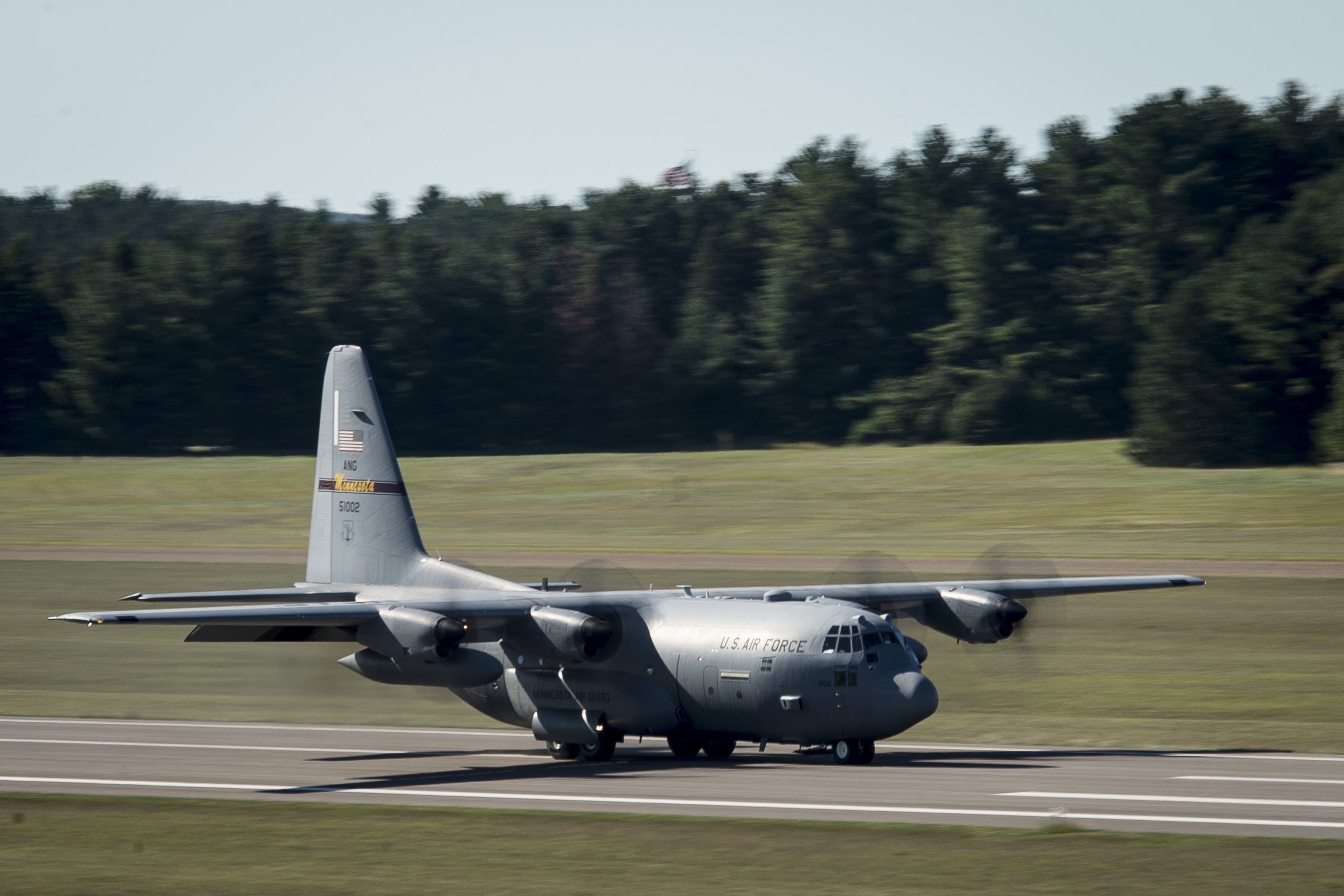 A C-130 aircraft landed at Camp Ripley in Little Falls during a training exercise in 2015.