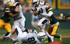 Butler running back AJ Deinhart, shown here playing against North Dakota State at Target Field in 2019, has rushed for 106 yards and a score this seas