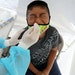 A boy receives a COVID-19 test on July 15, 2020, in Los Angeles.