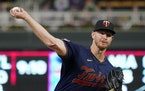 Twins pitcher Bailey Ober throws against the Toronto Blue Jays in the first inning Friday