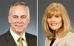 Rep. Tony Albright, R-Prior Lake, and Rep. Peggy Scott, R-Andover.