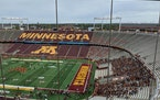 The student section at Huntington Bank Stadiume began to fill 90 minutes before kickoff against Bowling Green on Saturday.