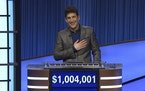 """""""Jeopardy!"""" contestant Matt Amodio', a fifth-year computer science Ph.D student at Yale University, won $48,800 for his 28th victory Friday, bri"""