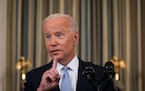 President Joe Biden speaks at the White House in Washington, Sept. 24, 2021. Democrats in tight races would like Biden to push for a quicker passage o