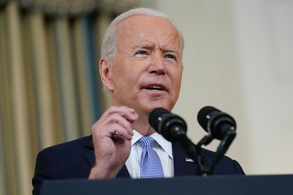 President Joe Biden's approval ratings have taken a hit.