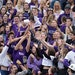 The St. Thomas student section reached out for a free T-shirt during the Sept. 25 home opener against Butler.