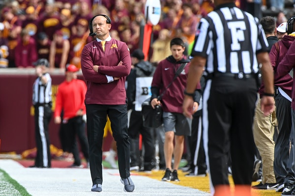 Under coach P.J. Fleck, the Gophers are 0-17 when trailing at halftime.