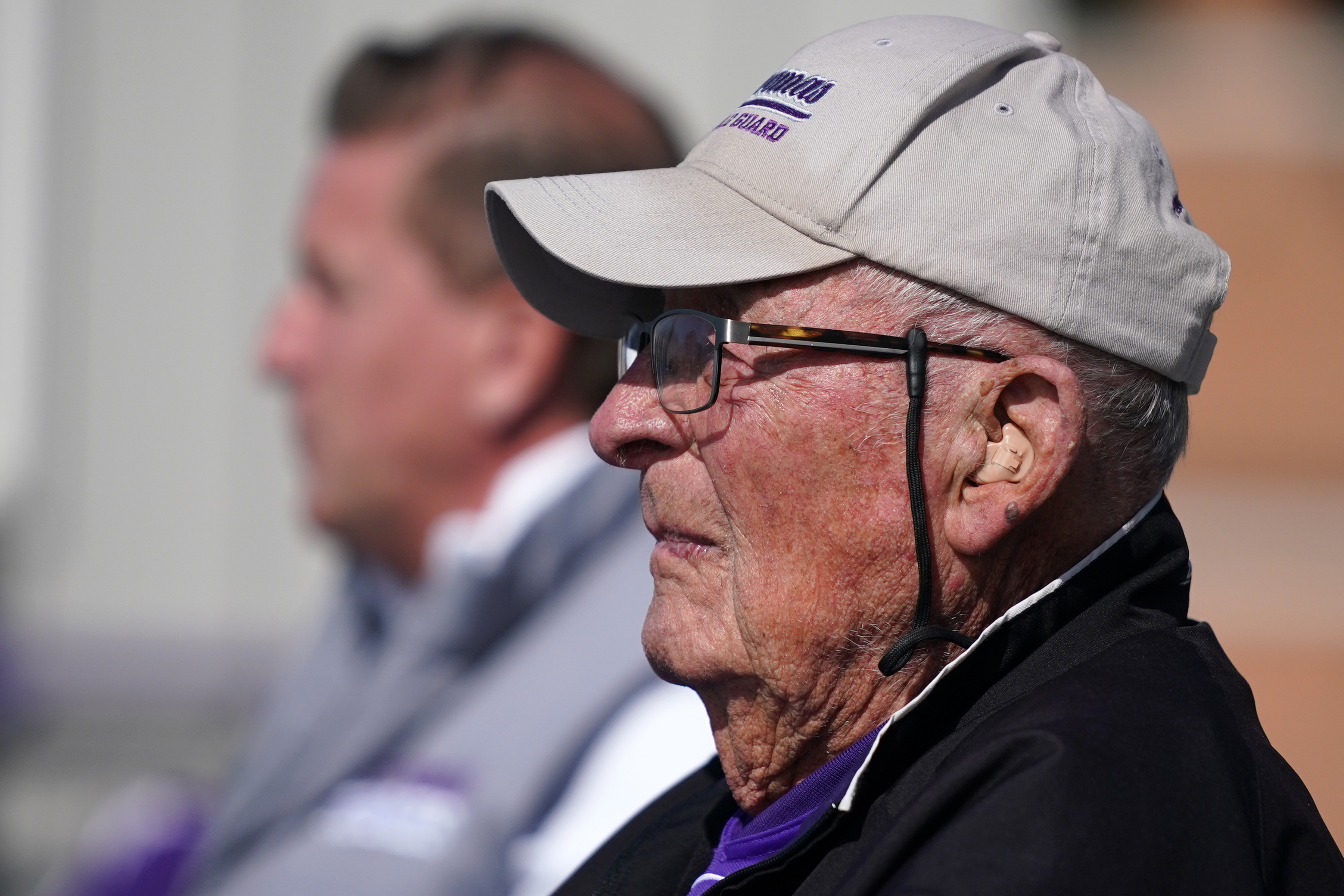 Tom Pacholl who played football for St. Thomas in the 1940's watched their first NCAA Division I game from the stands