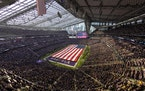 Tens of thousands of fans packed the seats at U.S. Bank Stadium on Sunday for the Vikings' home season opener against the Seattle Seahawks.