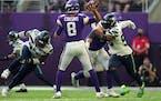 Vikings quarterback Kirk Cousins was masterful against the Seahawks on Sunday.