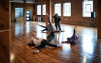Rosy Simas led a practice of her dance ensemble. Simas moved her company Rosy Simas Danse into the new dance space in January.