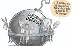 Editorial cartoon: Nick Anderson on the debt ceiling
