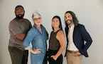 New arts leaders at the Jungle include (from left) JuCoby Johnson, Angela Timberman, Sequoia Hauck and James Rodriguez.