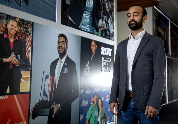 """Timberwolves coach Chris Finch on his new boss, Sachin Gupta (pictured): """"I feel like he's extremely ready and one of the most bright, strategic m"""