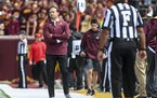 P.J. Fleck stood on the sidelines during Saturday's loss to Bowling Green.