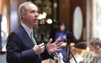 In this April 14, 2020, photo, Wisconsin Assembly Speaker Robin Vos speaks at the state Capitol in Madison Wis.