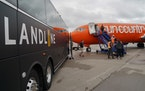 Sun Country Airlines tapped Landline, which has been running a bus service from Minnesota cities to its terminal at MSP, to provide car service to and