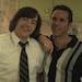 "Michael Gandolfini (left) plays a young Tony Soprano and Alessandro Nivola stars as his crime mentor in ""The Many Saints of Newark."""