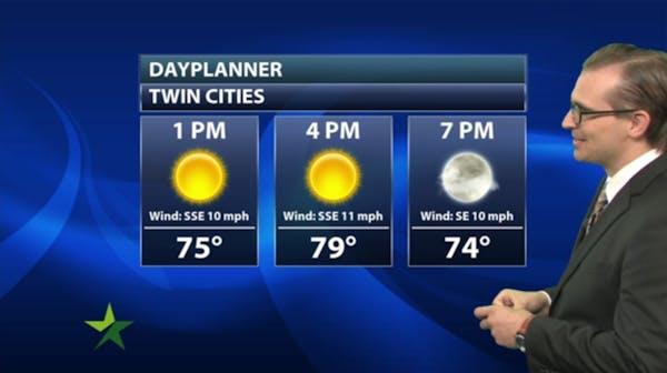 Afternoon forecast: Sunny, warm; high 83