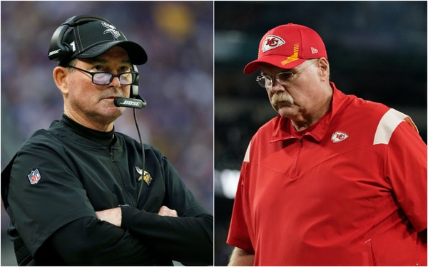 Mike Zimmer and Andy Reid