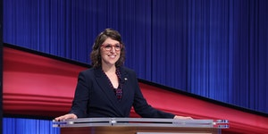 """Mayim Bialik is the new co-host of the game show series """"Jeopardy!"""""""