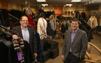 Bill Ribnick, left, with his son, Justin, in this 2016 photo. Ribnick Luxury Outerwear the North Loop's oldest retailer will close for good in Decem