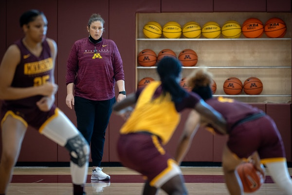 Lindsay Whalen oversaw the first practice of the season for her Gophers women's basketball team Tuesday.