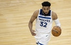 """Karl-Anthony Towns said he is out to """"dominate"""" each time he takes the floor this season"""
