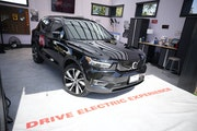 A 2022 Volvo XC40 Recharge sat in the Xcel Energy display at the Denver auto show last month.