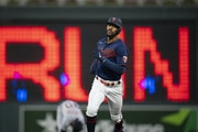 Twins center fielder Byron Buxton hit two home runs and a double in Thursday's 10-7 loss to Detroit.