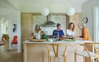 Stella DeLuca, Jade-Snow Carroll, Dulcinea Sheffer and Julia Rasch at their home, a converted farm, in Egremont, Mass.
