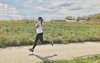Michaela Kofoed gets in her miles.
