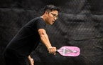 Fuyei Xaykaothao, a former college tennis player, recently converted to pickleball and launched a company, PikNinja Sports, selling paddles and gear.