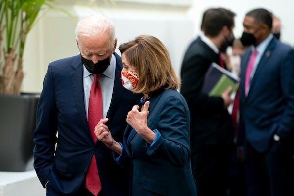 Biden's message to Democrats is to get both bills done