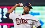 Minnesota Twins relief pitcher Juan Minaya