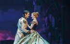 """Austin Colby as Hans and Caroline Innerbichler as Anna in """"Frozen."""" Photo by Deen van Meer"""