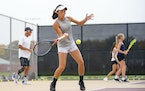 Maple Grove's Zoe Adkins, Class 2A's top-ranked singles player, struggled on the court for a time after the death of her father, Doug, in 2020.