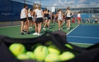 The Minnetonka girls' tennis team has been preparing all season to try for the state title denied the players in 2020 because the COVID-19 pandemic